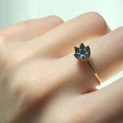 14 Ayar Altın Lotus Çiçeği Yüzük